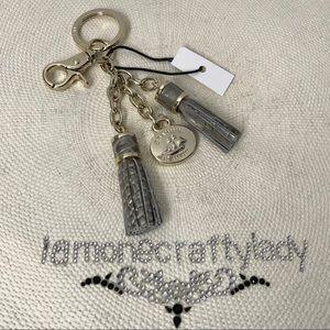 Brahmin Double Tassel Key Ring HEMLOCK MELBOURNE